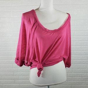 Free People Tee Short-sleeve Hot Pink